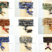 Natural-6mm-Gemstone-Buddhist-108-Beads-Prayer-Mala-Stretchy-Bracelet-Necklace-371631549219-2