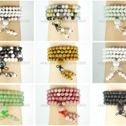 Natural-6mm-Gemstone-Buddhist-108-Beads-Prayer-Mala-Stretchy-Bracelet-Necklace-371631549219-3