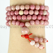 Natural-6mm-Gemstone-Buddhist-108-Beads-Prayer-Mala-Stretchy-Bracelet-Necklace-371631549219-4323