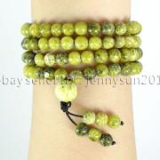 Natural-6mm-Gemstone-Buddhist-108-Beads-Prayer-Mala-Stretchy-Bracelet-Necklace-371631549219-5089