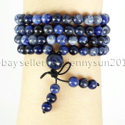 Natural-6mm-Gemstone-Buddhist-108-Beads-Prayer-Mala-Stretchy-Bracelet-Necklace-371631549219-6f09