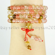 Natural-6mm-Gemstone-Buddhist-108-Beads-Prayer-Mala-Stretchy-Bracelet-Necklace-371631549219-7ede