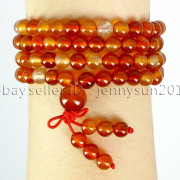 Natural-6mm-Gemstone-Buddhist-108-Beads-Prayer-Mala-Stretchy-Bracelet-Necklace-371631549219-a87e