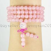 Natural-6mm-Gemstone-Buddhist-108-Beads-Prayer-Mala-Stretchy-Bracelet-Necklace-371631549219-b6b9