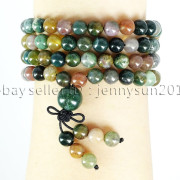 Natural-6mm-Gemstone-Buddhist-108-Beads-Prayer-Mala-Stretchy-Bracelet-Necklace-371631549219-e8ba
