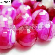 Natural-Agate-Gemstone-Faceted-Round-Beads-155-6mm-8mm-10mm-Pink-With-Stripe-251109293431-2