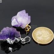 Natural-Amethyst-Druzy-Gemstones-Healing-Reiki-Chakra-Beads-Pendant-Charm-Beads-281435285576-2