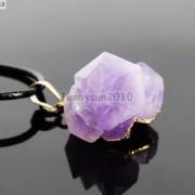 Natural-Amethyst-Druzy-Gemstones-Healing-Reiki-Chakra-Beads-Pendant-Charm-Beads-281435285576-27f3