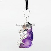 Natural-Amethyst-Druzy-Gemstones-Healing-Reiki-Chakra-Beads-Pendant-Charm-Beads-281435285576-4
