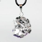 Natural-Amethyst-Druzy-Gemstones-Healing-Reiki-Chakra-Beads-Pendant-Charm-Beads-281435285576-5