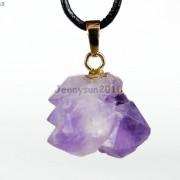 Natural-Amethyst-Druzy-Gemstones-Healing-Reiki-Chakra-Beads-Pendant-Charm-Beads-281435285576-6