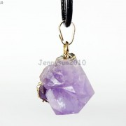 Natural-Amethyst-Druzy-Gemstones-Healing-Reiki-Chakra-Beads-Pendant-Charm-Beads-281435285576-7