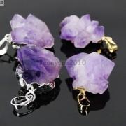 Natural-Amethyst-Druzy-Gemstones-Healing-Reiki-Chakra-Beads-Pendant-Charm-Beads-281435285576-ddeb