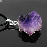Natural-Amethyst-Druzy-Gemstones-Healing-Reiki-Chakra-Beads-Pendant-Charm-Beads-281435285576-f857