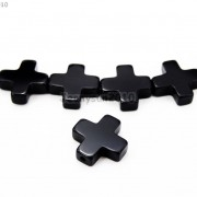 Natural-Black-Onyx-Gemstone-Cross-Bracelet-Necklace-Connector-Spacer-Charm-Beads-370783579084-4