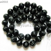 Natural-Black-Onyx-Gemstones-Hand-Carved-Round-Flower-Beads-15039039-10mm-12mm-14mm-281102762287-3280