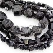 Natural-Black-Tourmaline-Gemstone-Freeform-Crude-Rock-Nugget-Spacer-Beads-16-281683362657-2