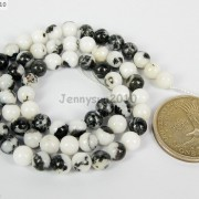 Natural-Black-amp-White-Zebra-Gemstone-Round-Beads-16039039-2mm-4mm-6mm-8mm-10mm-12mm-261098985918-b31f