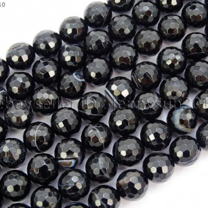 Natural-Black-with-Stripe-Onyx-Gemstone-Faceted-Round-Beads-155-6mm-8mm-10mm-261181200261