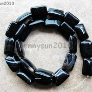 Natural-Black-with-Stripe-Onyx-Gemstones-Rectangle-Loose-Beads-16039039-Strand-261210972393-4289