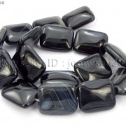 Natural-Black-with-Stripe-Onyx-Gemstones-Rectangle-Loose-Beads-16039039-Strand-261210972393-72ab