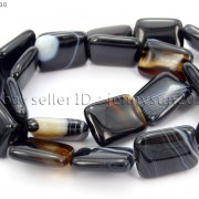 Natural-Black-with-Stripe-Onyx-Gemstones-Rectangle-Loose-Beads-16039039-Strand-261210972393-90ce