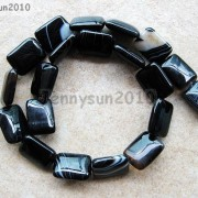 Natural-Black-with-Stripe-Onyx-Gemstones-Rectangle-Loose-Beads-16039039-Strand-261210972393-b916