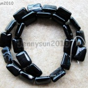 Natural-Black-with-Stripe-Onyx-Gemstones-Rectangle-Loose-Beads-16039039-Strand-261210972393-cb78