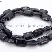 Natural-Black-with-Stripe-Onyx-Gemstones-Rectangle-Loose-Beads-16039039-Strand-261210972393-ddfa