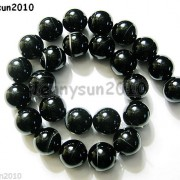 Natural-Black-with-Stripe-Onyx-Gemstones-Round-Beads-155039039-8mm-10mm-12mm-14mm-281074786212-a10d
