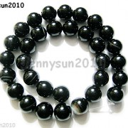Natural-Black-with-Stripe-Onyx-Gemstones-Round-Beads-155039039-8mm-10mm-12mm-14mm-281074786212-ad85