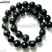 Natural-Black-with-Stripe-Onyx-Gemstones-Round-Beads-155039039-8mm-10mm-12mm-14mm-281074786212-f54d