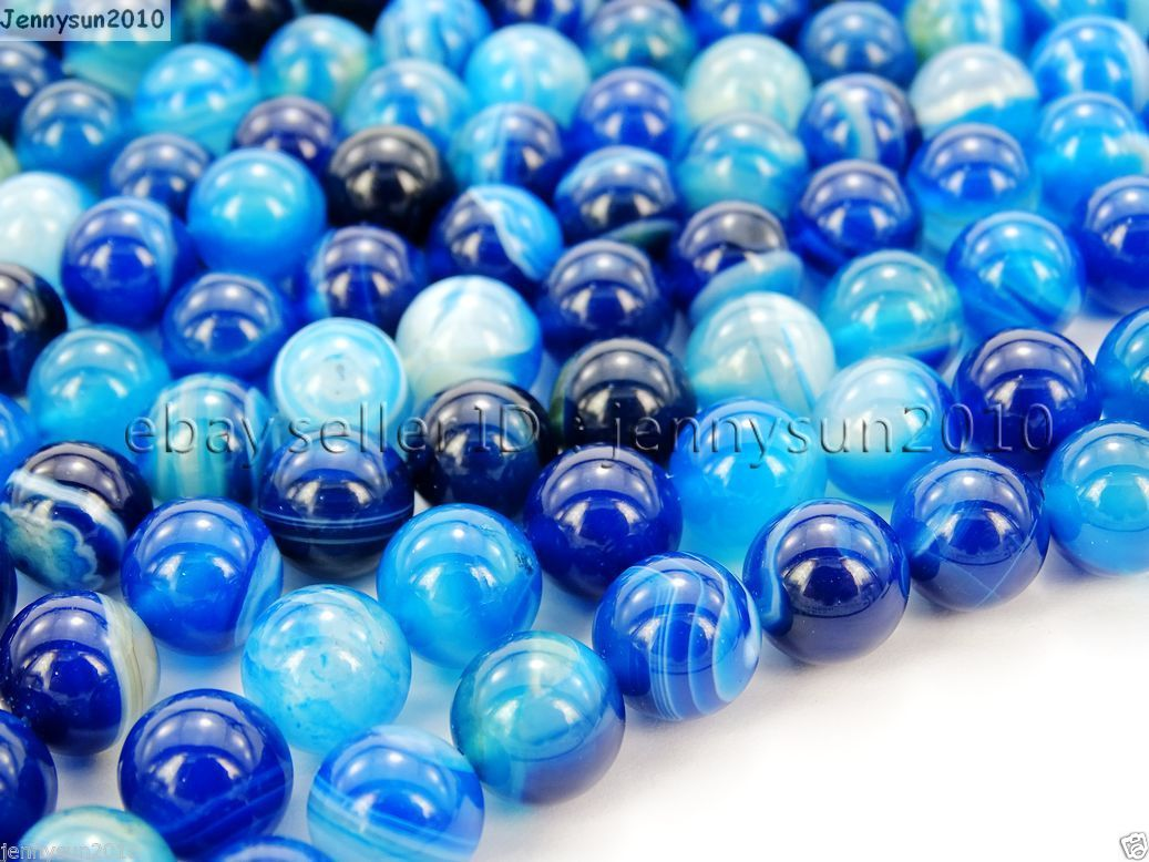 Natural blue agate