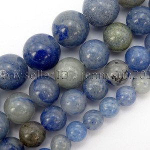 Natural-Blue-Aventurine-Gemstone-Round-Loose-Beads-15-6mm-8mm-10mm-12mm-371661515016