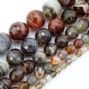 Natural-Botswana-Agate-Faceted-Gemstone-Round-Beads-15-4mm-6mm-8mm-10mm-12mm-371644318962