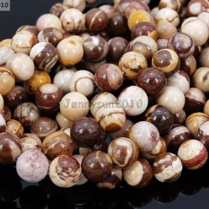 Natural-Brown-Zebra-Gemstone-Round-Loose-Beads-155-4mm-6mm-8mm-10mm-12mm-14mm-281194380995