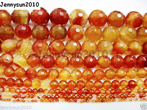 Natural-Carnelian-Gemstone-Faceted-Round-Beads-155-3mm-4mm-6mm-8mm-10mm-12mm-261031745084