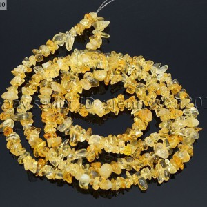 Natural-Citrine-Gemstones-Chip-Nugget-58mm-Beads-35-Bracelet-Necklace-Design-251071752422