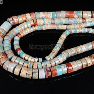 Natural-Colorful-Serpentine-Gemstone-Heishi-Spacer-Beads-16-4mm-x-8mm-10mm-281317184085