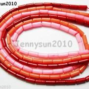 Natural-Coral-Gemstone-3mm-x-7mm-Round-Tube-Beads-16-Strand-Red-Orange-Pink-370781423078-3