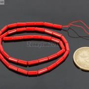 Natural-Coral-Gemstone-3mm-x-7mm-Round-Tube-Beads-16039039-Strand-Red-Orange-Pink-370781423078-6deb
