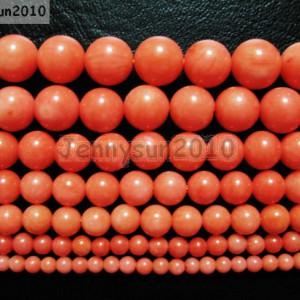 Natural-Coral-Gemstone-Round-Beads-Orange-16-3mm-4mm-5mm-6mm-7mm-8mm-9mm-281118747326