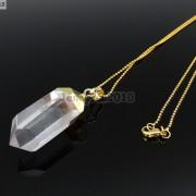 Natural-Crystal-Quartz-Rock-Gemstone-Hexagonal-Spear-Pointed-Pendant-Charm-Gold-281668028311-06fb
