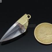 Natural-Crystal-Quartz-Rock-Gemstone-Hexagonal-Spear-Pointed-Pendant-Charm-Gold-281668028311-5