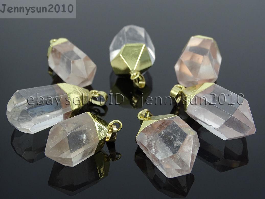 Natural Crystal Quartz Rock Gemstone Hexagonal Spear