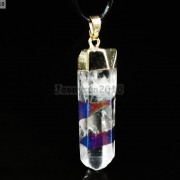 Natural-Crystal-Quartz-Rock-Gemstone-Pointed-Pendant-Charm-Bead-Gold-Cap-Healing-371136089278-13d6