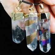 Natural-Crystal-Quartz-Rock-Gemstone-Pointed-Pendant-Charm-Bead-Gold-Cap-Healing-371136089278-2