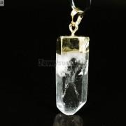 Natural-Crystal-Quartz-Rock-Gemstone-Pointed-Pendant-Charm-Bead-Gold-Cap-Healing-371136089278-6