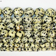 Natural-Dalmation-Jasper-Gemstone-Faceted-Round-Beads-15-4mm-6mm-8mm-10mm-12mm-370929400663