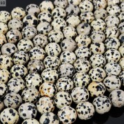 Natural-Dalmation-Jasper-Gemstone-Faceted-Round-Beads-15-4mm-6mm-8mm-10mm-12mm-370929400663-2